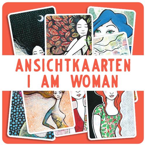 Ansichtkaarten I am Woman