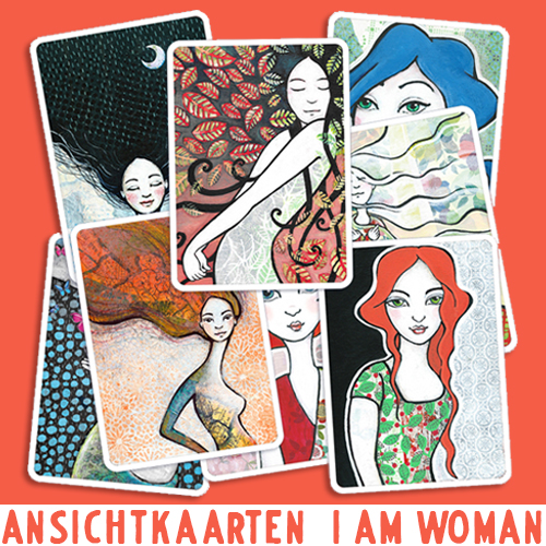 Ansichtkaarten I am Woman